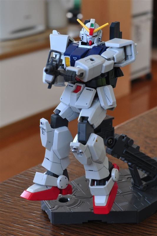 【HG:RX-79〔G〕 GUNDAM GROUND TYPE】素組+スミ入れ