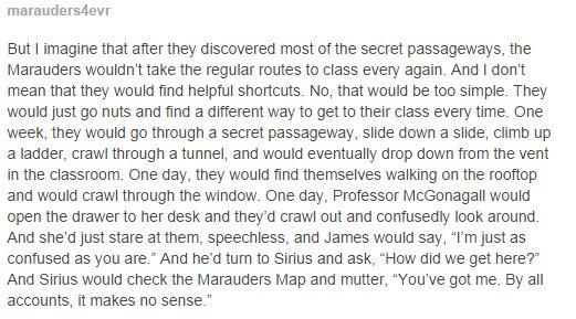 the marauders and the secret passageways