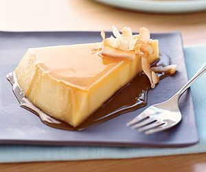 Sweetened condensed milk and canned coconut milk make this flan extra rich and velvety smooth. Chill the flan overnight for a handy make-ahead recipe.