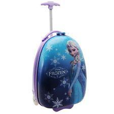 Disney Kids Children Girls Frozen Suitcase Cabin Trolley Wheeled Travel Luggage