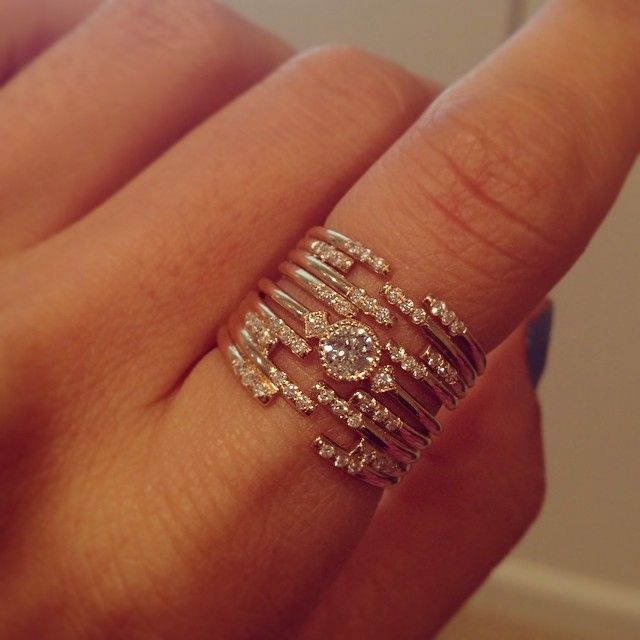 Jennie Kwon Designs / Stacked Cuff Rings #littleadditions