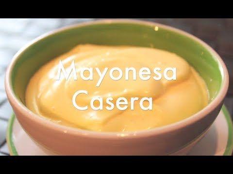 Cómo preparar mayonesa casera - YouTube