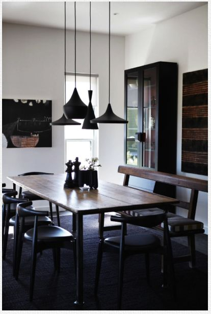 Cluster of pendants for over dining table