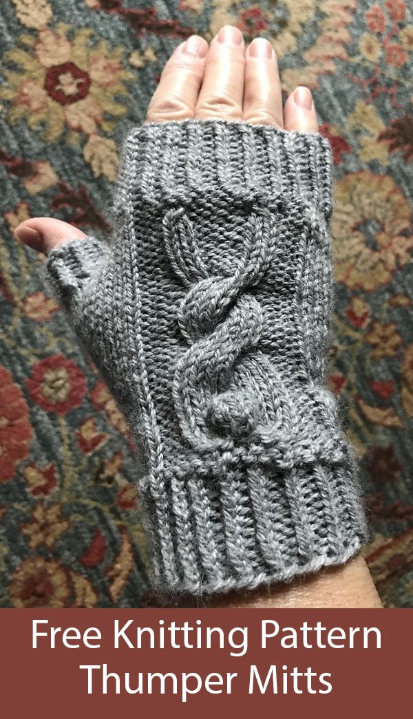 Cabled Sea Turtle Mitts knitting pattern PDF download