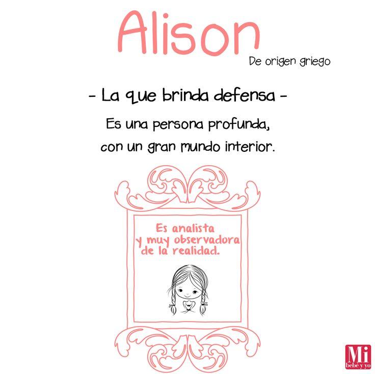 Alison #NombresDeBebé #RecomendaciónMIB