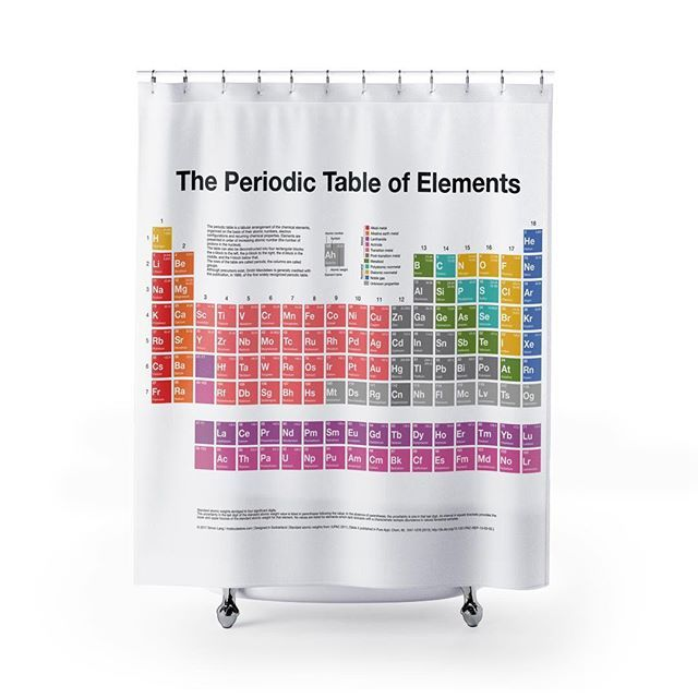 Our New Periodictable Shower Curtain Use Periodically