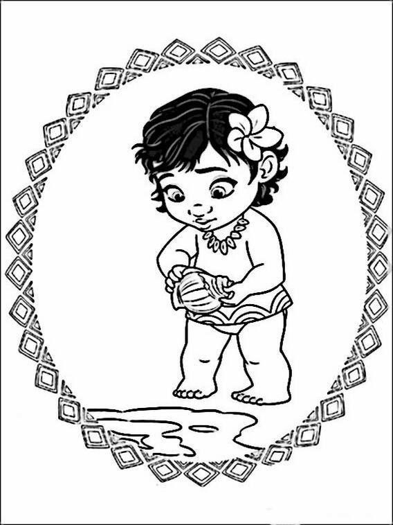 Desenhos para colorir e pintar Vaiana - Moana 9