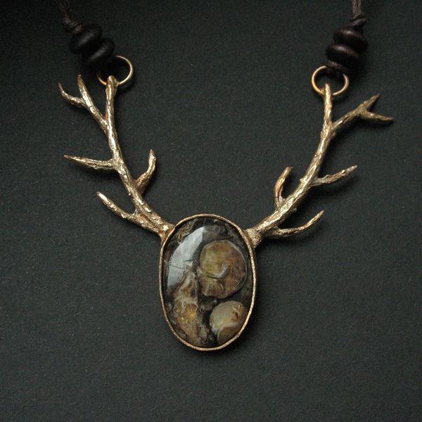 The caretaker of the earth - naszyjnik z brązu  - necklace by Anna Fidecka