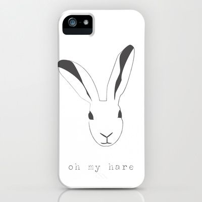 Oh my hare! iPhone & iPod Case by radis - $35.00