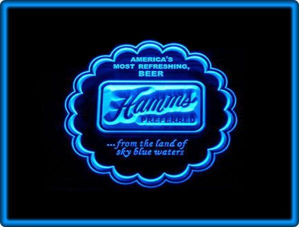 Hamms Beer Bar Pub Restaurant Neon Light Sign