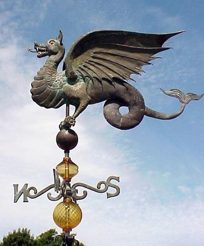 Ferro Weathervanes: Weathervane Accessories -Weathervane Glass Globes - Wyvern