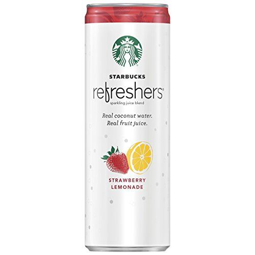 Starbucks Refreshers Strawberry Lemonade Sparkling Juice Blend, 1 Count, 12 oz Can -- You can get additional details at the image link. #CoffeeDrinks