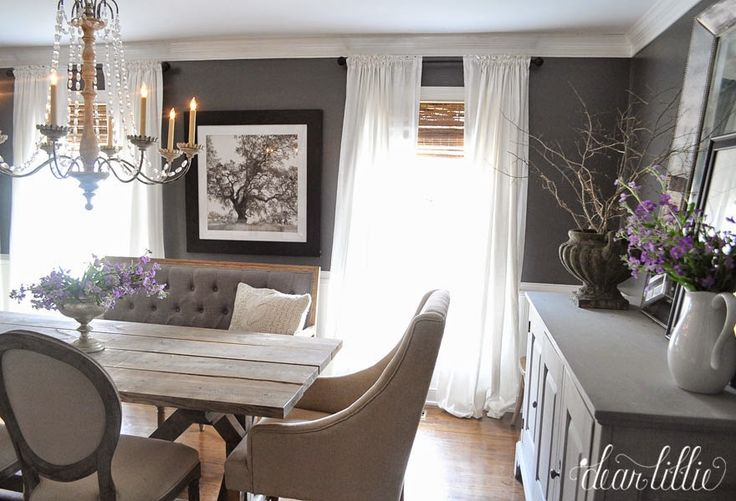 Kendall charcoal dining