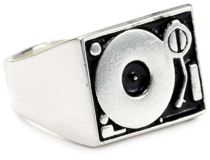 Men's Silver Plated Brass Turntable Silver Ring  endless.com