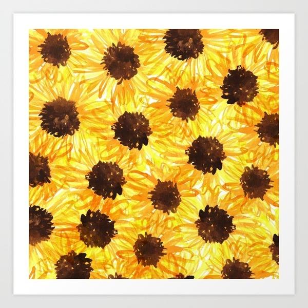 sunny flower print