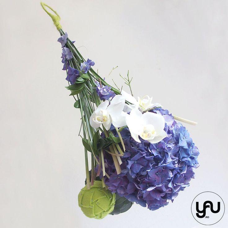 Buchet mireasa hortensii si orhidee _ BM111 - Yau koncept