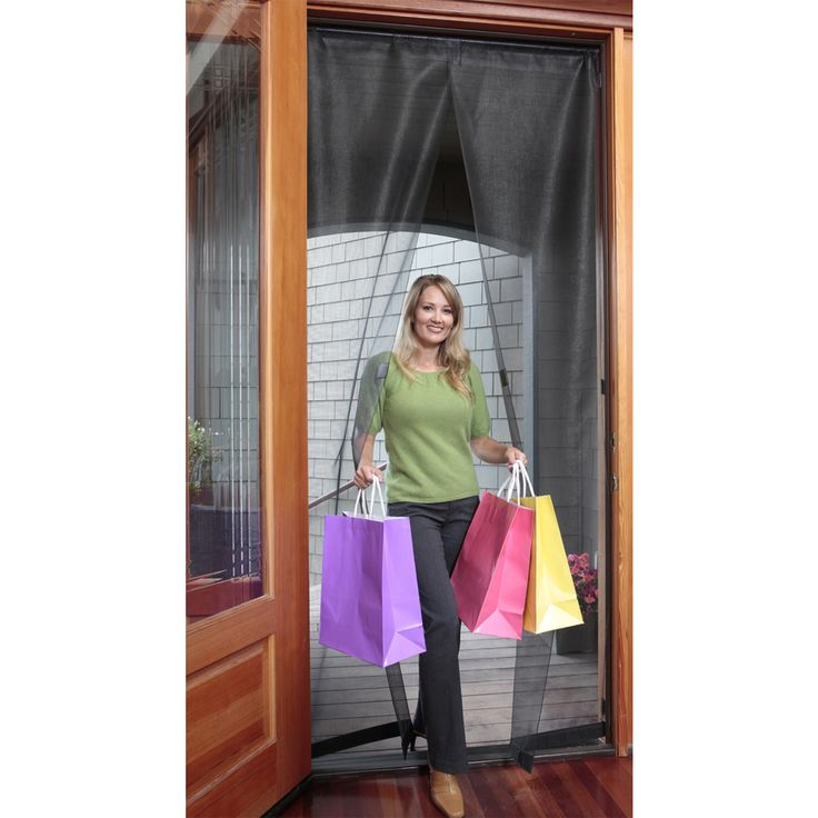 This 32 x 96 Inch Magnetic Screen Door gives you a simple way to keep bugs out of your home while still keeping the door open.