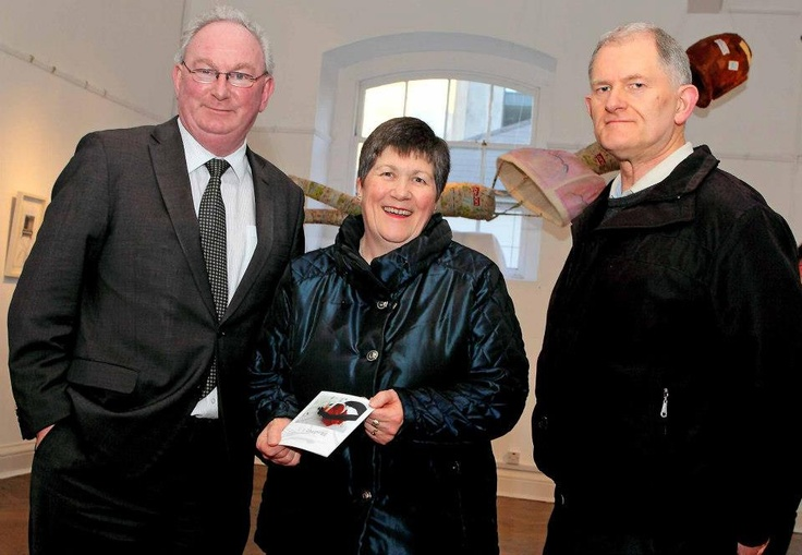 Cllr.Tom Cunningham, Lily O'Reilly and Ron Goulden