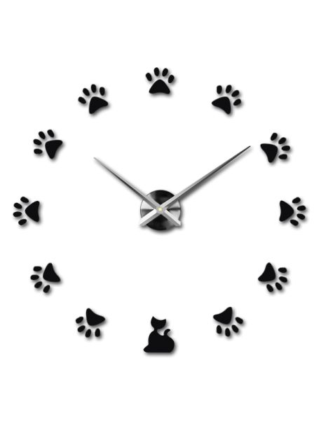 Creative ceasuri de perete - Pisică Referinta  12S017-RAL9005-S-COLOR** Alege o culoare de unul singur! Timpul a venit mult mai confortabil REALIT ceas nou. 3D Ceas de perete mare este un decor frumos al interiorului. Nu vei fi niciodată târziu.