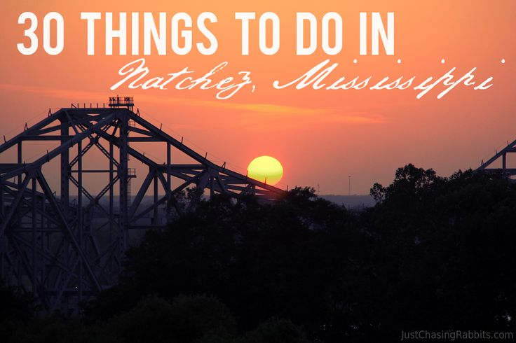 Our Natchez, Mississippi Bucket List with 30 Things To Do in Natchez including history, antebellum homes, restaurants, and a working plantation. Via Just Chasing Rabbits.