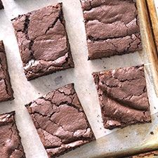 Wicked Easy Fudge Brownies (King Arthur Flour). Fudgy, cakey, fudgy, cakey... can't make up your mind? If you're looking for a brownie that's right in between those two styles, you've found it. Great reviews.
