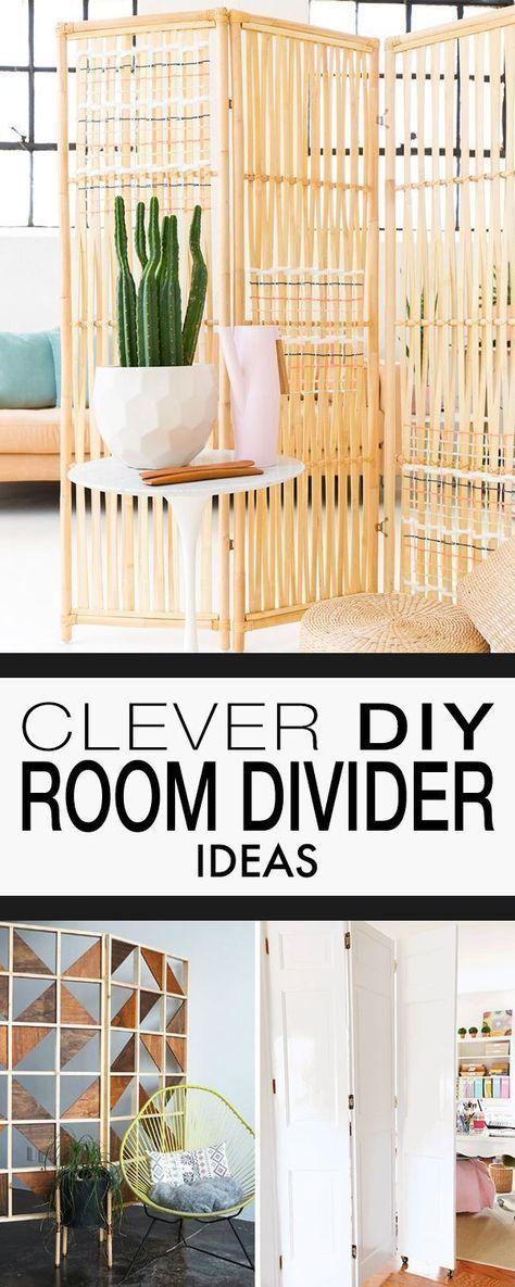 Clever DIY Room Divider Ideas
