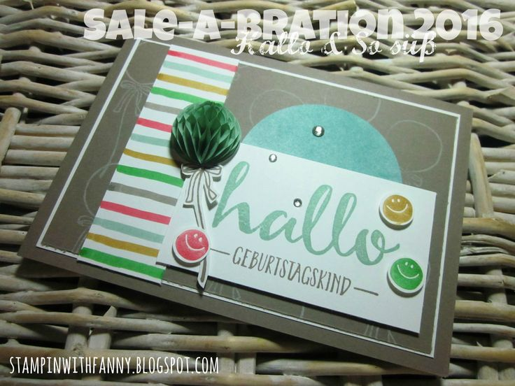 stampin up stampinwithfanny saleabration 2016 sab hallo hello so sweet so süß kunstvoll kreiert perfectly artistic honigwaben honeycomb #stampinwithfanny