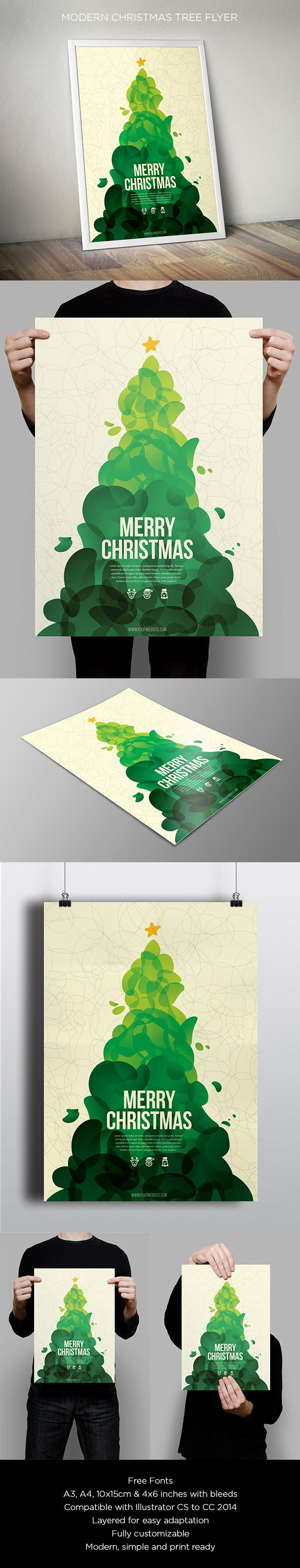 Cool Abstract Christmas Flyer. Download here: http://graphicriver.net/item/cool-abstract-christmas-flyer/13604887?ref=abradesign