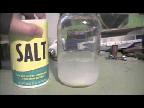 How to make sodium hydroxide (lye) at home. This is used in many bar soaps.