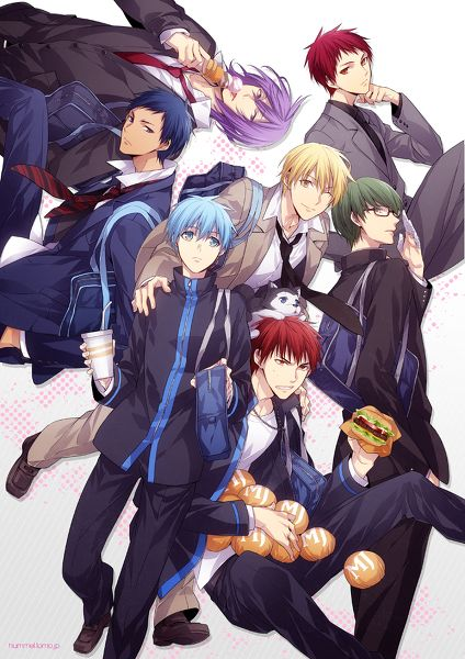 The Generation of Miracles... And then there's Kagami with his burgers like wat?