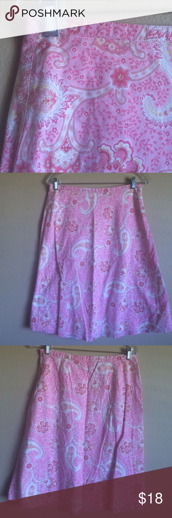 🎀Fun & Flirty Tommy Hilfiger Pink Paisley Skirt 🎀Fun & Flirty Tommy Hilfiger Pink Yellow and White Paisley Skirt Fully Lined  Side Zipper Closure Size 4  24inches length Tommy Hilfiger Skirts