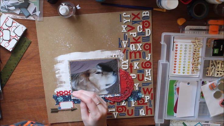 Stretch Your Stash - Alphabet Stickers // Cat Nap 12x12 Layout Process V...