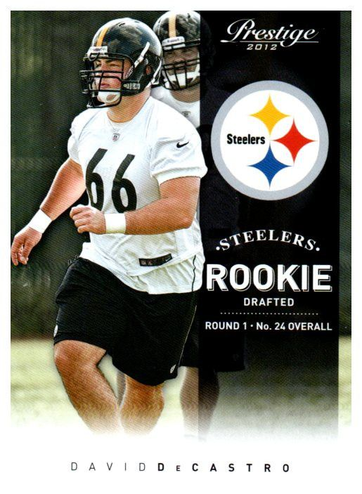 2012 Prestige David DeCastro Rookie Card Pittsburgh Steelers