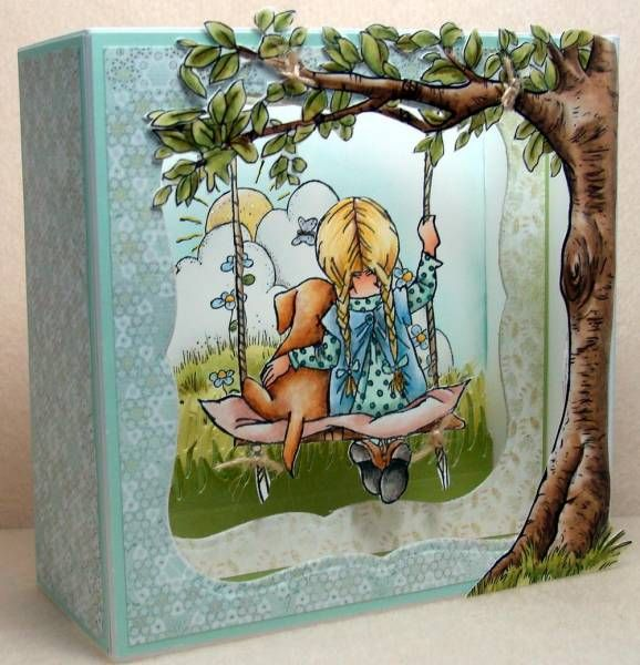 lili of the valley swing ( tree addition) card