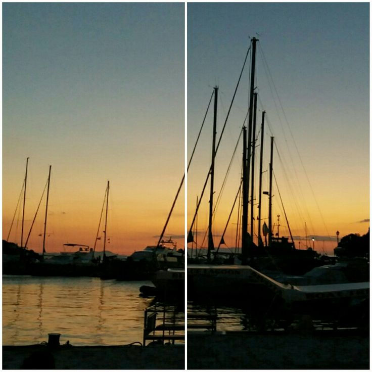 Sivota -Greece - orange &blue in the port