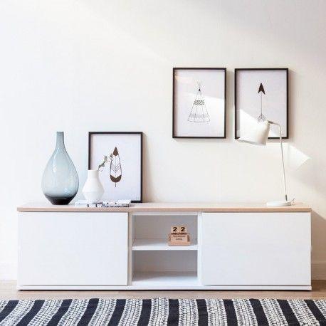 Trend mueble tv 140 cm con puertas                                                                                                                                                      Más