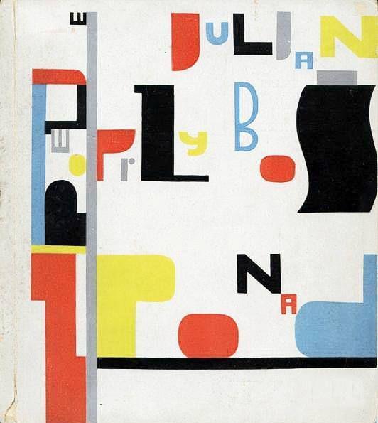cover for a book of Julian Przyboś by Władysław Strzemiński – 1930