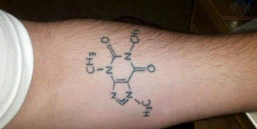 59 best images about science on pinterest for Caffeine molecule tattoo