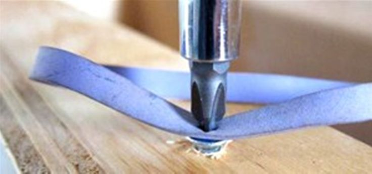 Fix Stripped Screws    Place a rubber band between your screw and screwdriver to help get a grip on the stripped screw.