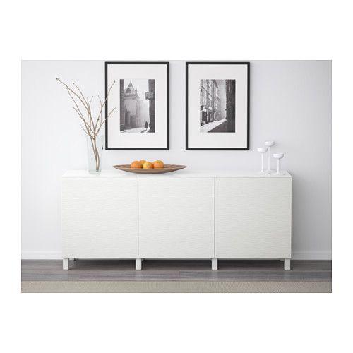 BESTÅ Förvaring med dörrar - vit/Laxviken vit - IKEA
