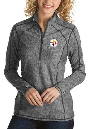9ab6df598 ... this Pittsburgh Steelers Women s Long Sleeve 1 4 Zip Pullover to keep  you warm during the big game!  pittsburghsteelers  steelers  NFL   womensclothing