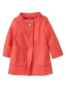 Twill swing coat | GapToddlers Girls Clothing, Wool Dresses, Swings Coats, Twill Swings, Dresses Coats, Baby Girls, Baby Gap, Baby Clothing, Kids Clothing