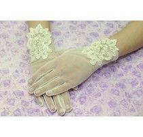 Перчатки свадебные  айвори