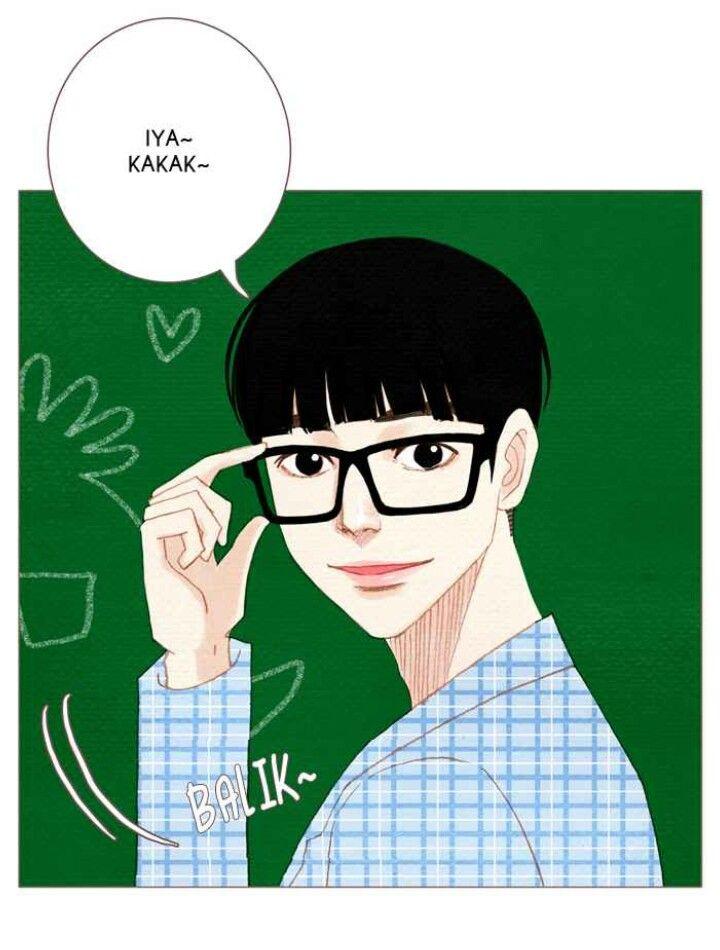 Cute sekali orang ini. Jadi baeblue dalam sehari, ceritanya. Nam Kijeong from Spirit Finger, Webtoon by kyoungchal han.