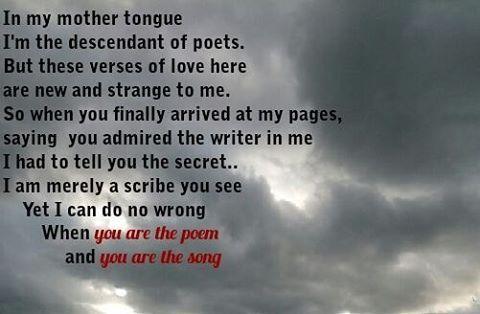 #poetrycommunity #poetry #poetsofinstagram #writersofinstagram #idopoetry #love #lovequotes #forever #instapoem #instapoet #kiss #song #poem #almostmarried #writersofinstagram #writing #word #wordporn http://quotags.net/ipost/1491622134585540907/?code=BSzTm2vFMEr