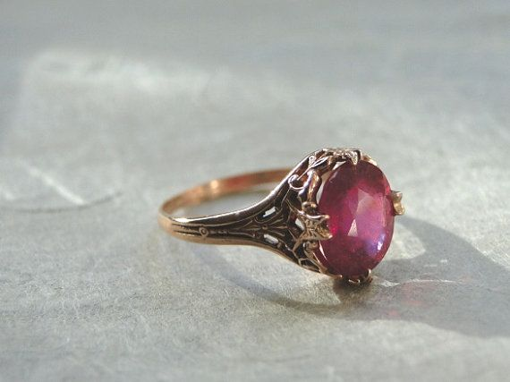 Ruby Wedding Gifts For Men: Best 25+ Ruby Ring Vintage Ideas On Pinterest