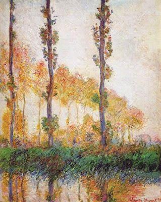 ". Claude Monet ""I pioppi"""