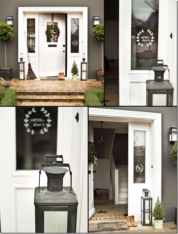 Wunderschöne DIY Idee für Haustür oder Fenster. Und auch die schönste Haustür ever!!