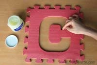 Step 2 Plaster of Paris Letter Sculpture