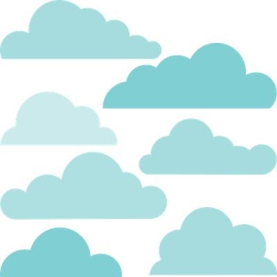 cute cloud outlines